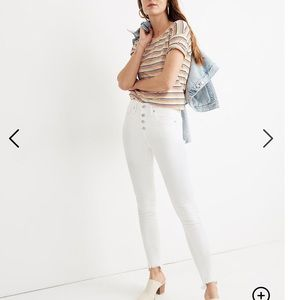 Madewell High Rise Skinny Crop Button Down Jeans